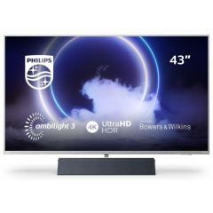 """43PUS9235 43"""" 4K UHD Ambilight Android TV with Bowers and Wilkins Soundbar"""